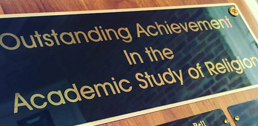Outstanding Achievement in the Academic Study of Religion award