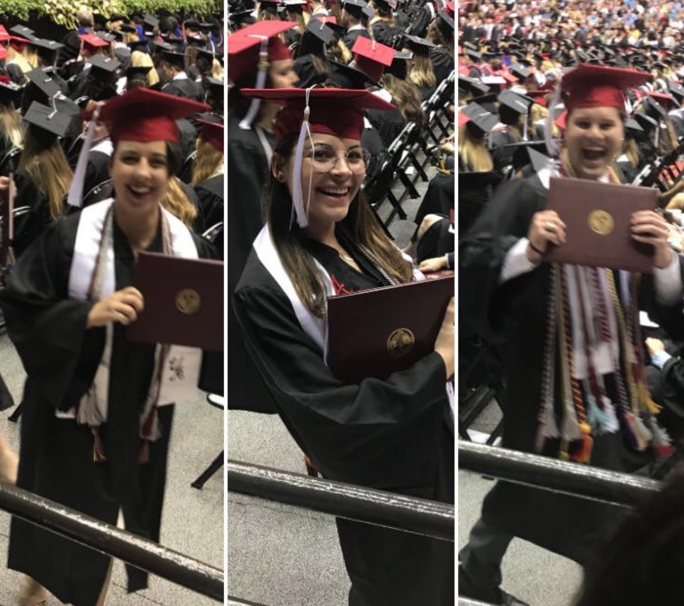pictures of students at commencement