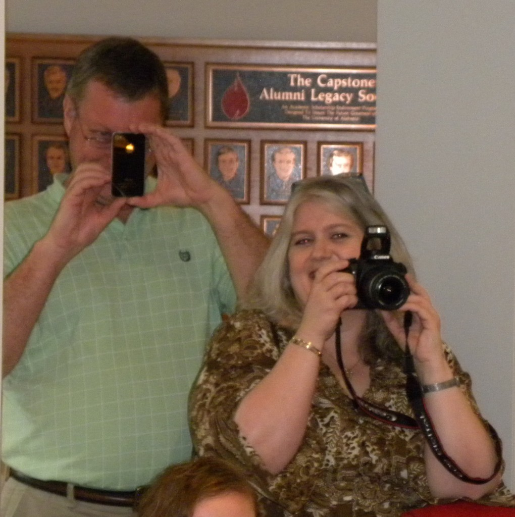 Proud Powell parents were caught in photographic action!