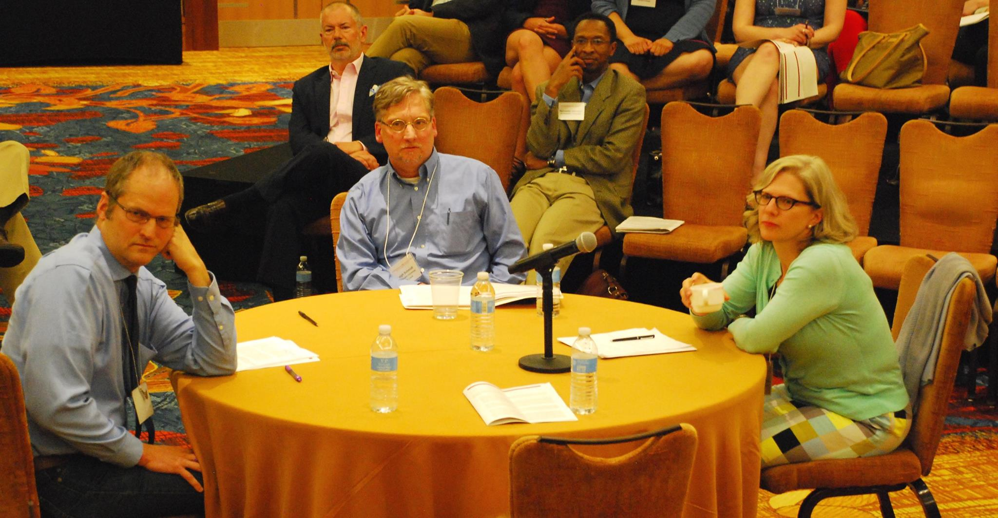 From left to right: Stephen Prothero, Leigh Eric Schmidt, and Pamela Klassen