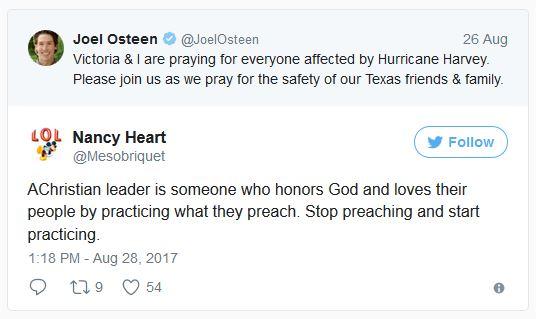 Joel Osteen Tweets