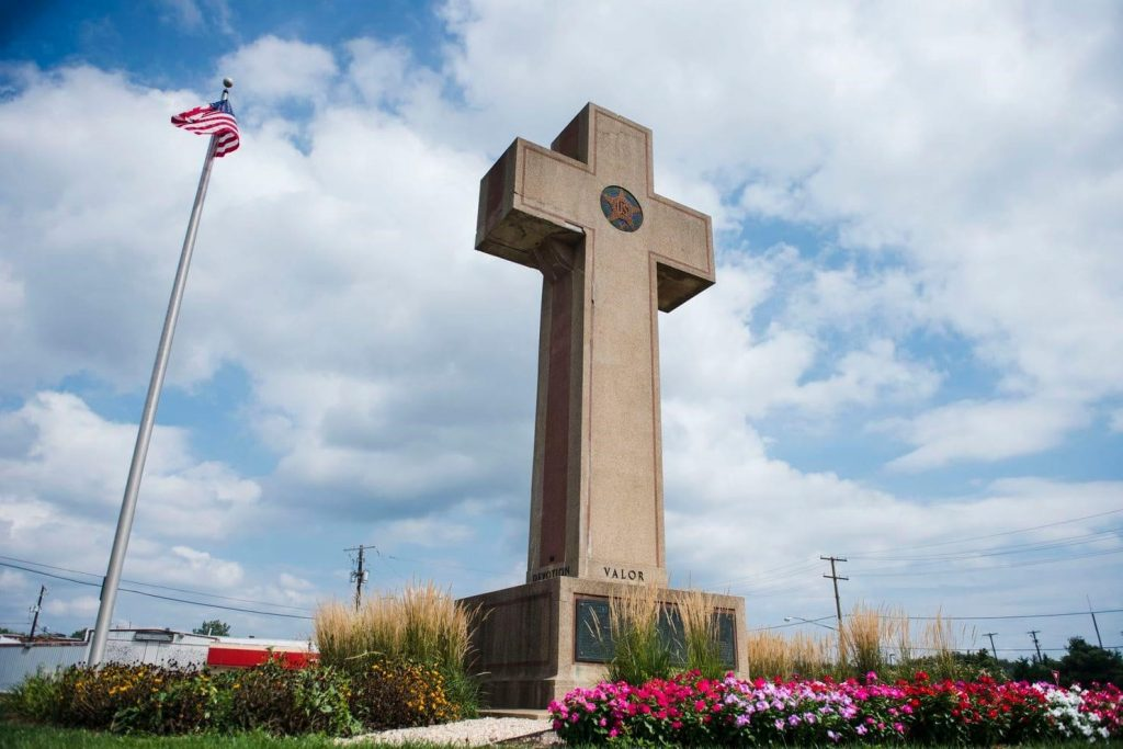 World War I monument known as the Peace Cross.
