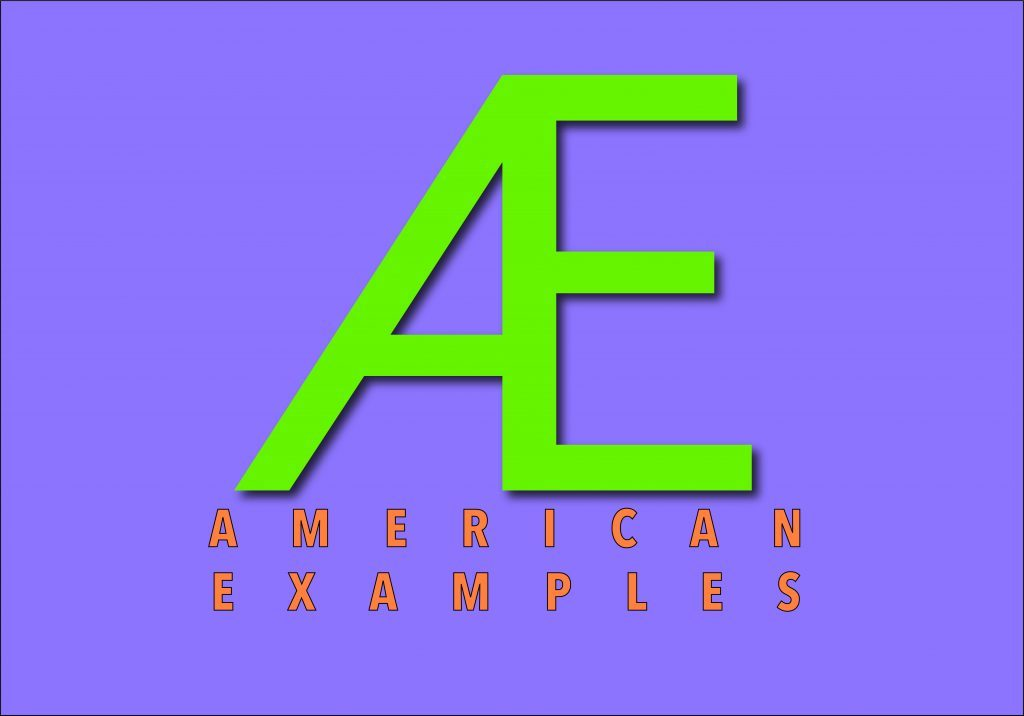 """AE"" American Examples logo"