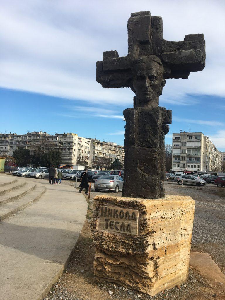 Montenegrin monument to Nikola Tesla