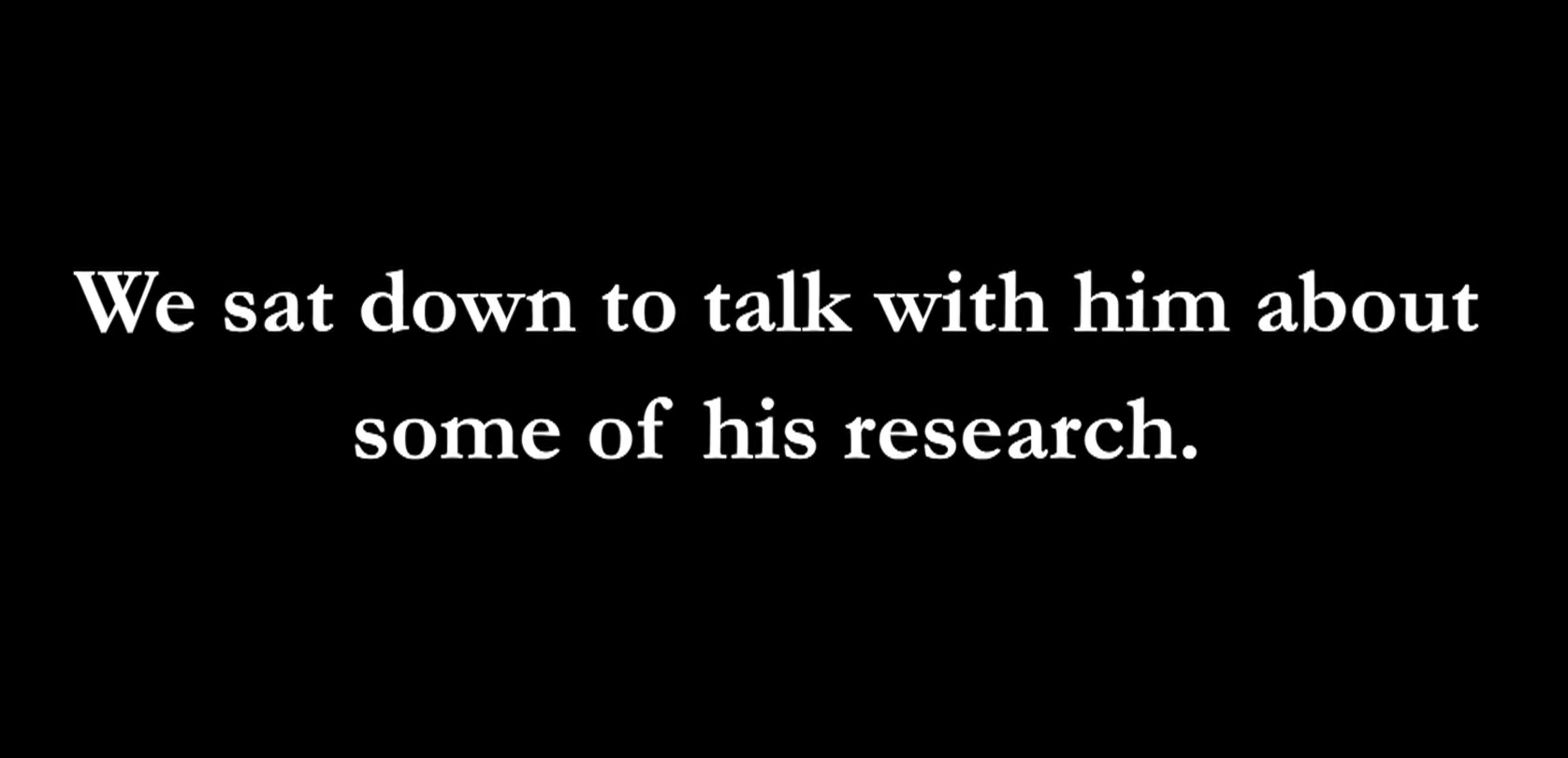 Title card from the interview stating that we asked Prof. Newton some questions