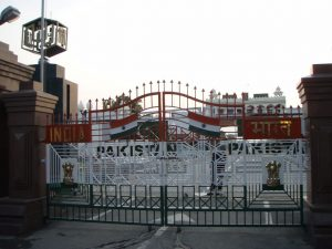 Image of gate at Wagah border