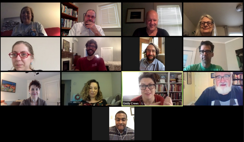 Screenshot of faculty and staff video-conference meeting