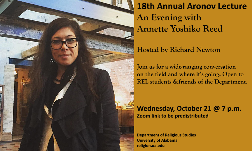 Poster for Oct 21 Aronov Lecture
