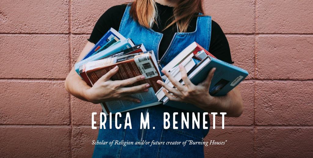 Front page of Erica Bennett's website
