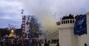 Tear Gas Outside the US Capitol on January 6, 2021
