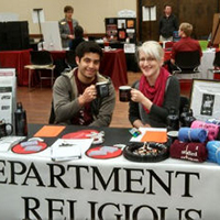 two RSSA students at a Get on Board Day event