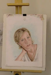 portrait of Amy Peterson, painted by her mother