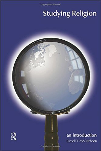 a blue book cover with a large magnifying glass