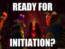 the initiation scene from Finding Nemo