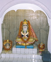 Jhule Lal and Guru Nanak in a shrine, Lucknow India