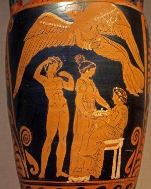 Vase Depicting Hippolytus and Phaedra
