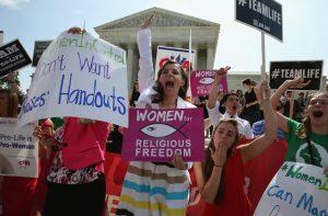 Conservative Christian Protestors