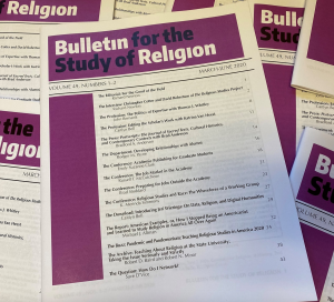 Cover of the Bulletin for the Study of Religion